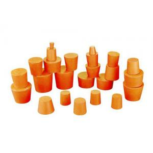 RUBBER STOPPERS SOLID, SIZE 0, TOP 13MM, BOTTOM 9MM. PK10