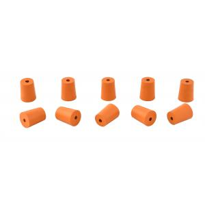 Rubber Stoppers One Hole, Size 8, Pack of 10
