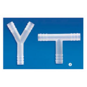 TUBING CONNECTORS, T SHAPE, POLYPROPYLENE, 6MM DIA