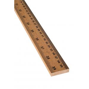 RULES HARDWOOD, 1M LENGTH, CM &IN