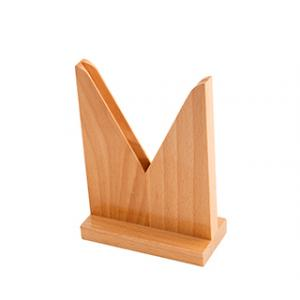 Lens Holder, Wooden V Shape