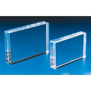 ACRYLIC BLOCK, RECTANGULAR 100x75x8mm