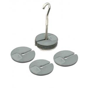 MASSES SET, SLOTTED, ZINC, WITH HANGER, 200g